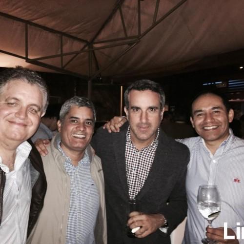Bruno Garro, Enrique Ballon , Guido Arata y Javier Benavides