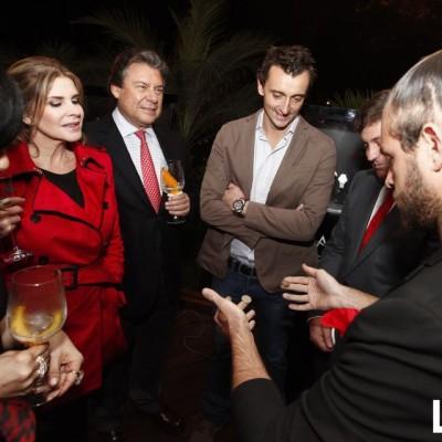 Carolina Tola, Ricardo Martin de Rossi, Benoit Vulliet con el mago Bruno
