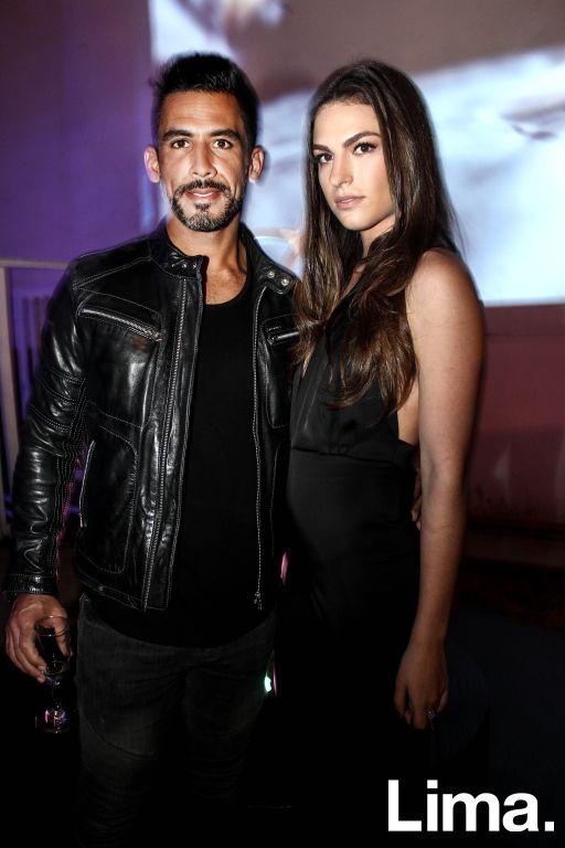 Eduardo Gotuzzo y Paola Rosemberg  en fiesta YSL, Barranco.