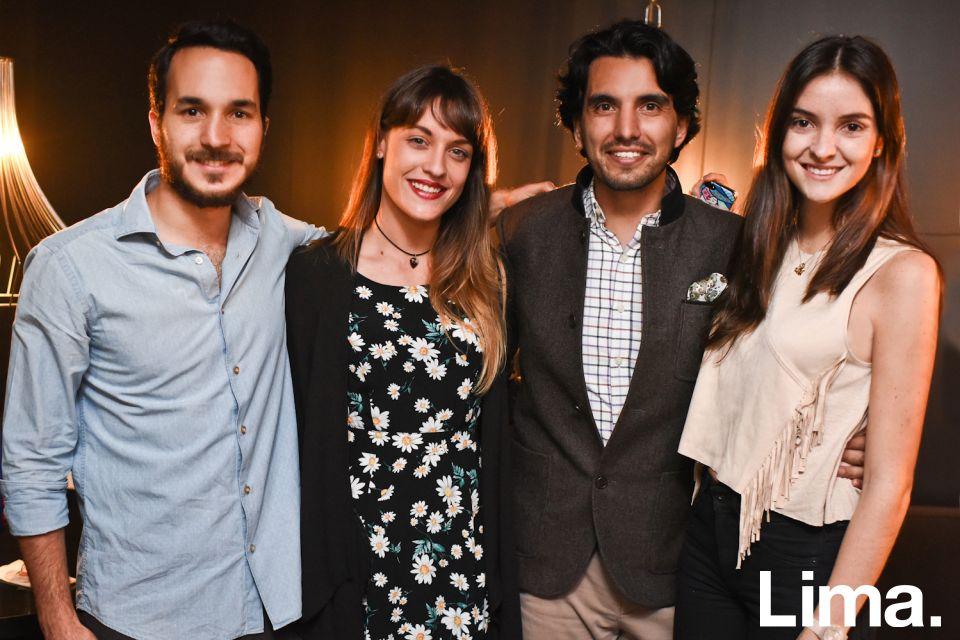 Franco Guiulfo, Stefanía Noriega, Carlos Andrés Luna y Daniella Rodriguez en Cóctel de Bloggers BTH