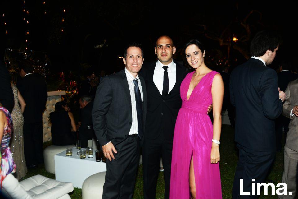Gonzalo Vega, Nicole Bazo y David Odeh