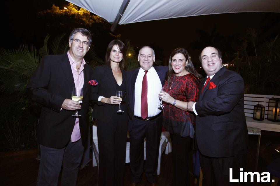 Gustavo Salazar, Sandra De Souza- Peixoto, Aldo Noriega, Aissa Paredes y Javier Laos