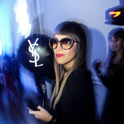 Katha Puga en fiesta YSL, Barranco.