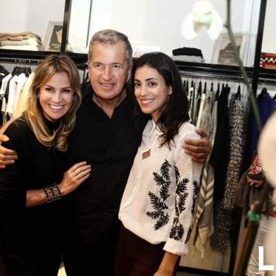Liz Foy, Mario Testino y Alessandra de Osma  en inauguración tienda Isidra, San Isido.