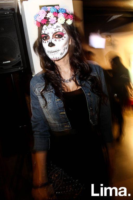 Mari Ramírez  en fiesta de Halloween, Microteatro.