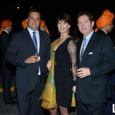 Mariano Prado, Karin Koch y Patrick Stenning