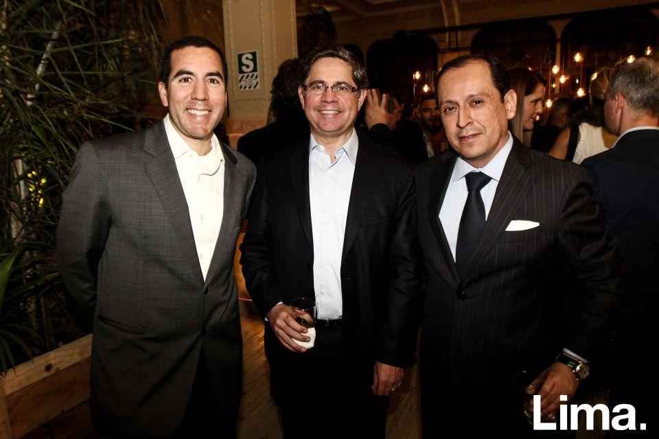 Pablo Rojas, Nelson Dávalos y Jorge Lazo