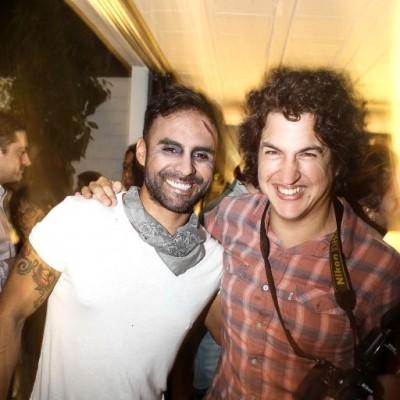 Rafo Iparraguirre y Josip Curich  en fiesta de Halloween, Microteatro.