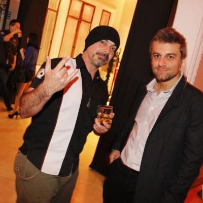 Ricardo Noriega y Fabrizio Aguilar en fiesta Jack Daniel's, Miraflores.