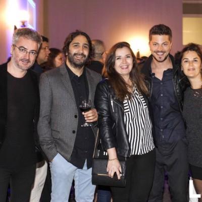 Robero Otoya, Jorge Jofre, Carolina Golabek, Francisco Bass y Andrea Boveri en MATE, Barranco