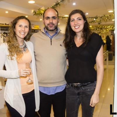 Sandy Campbell, Marco Sabal y Natalie Zaidan