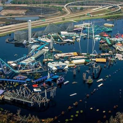Parque de atracciones Six Flags. Tras el paso del huracán Katrina en 2005, quedó sumergido bajo el agua.