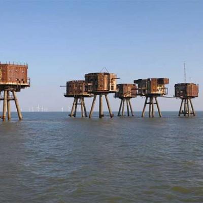 Fuerte Red Sands. Ubicado en el río Támesis en Reino Unido, se encuentra abandonado desde hace varias décadas.