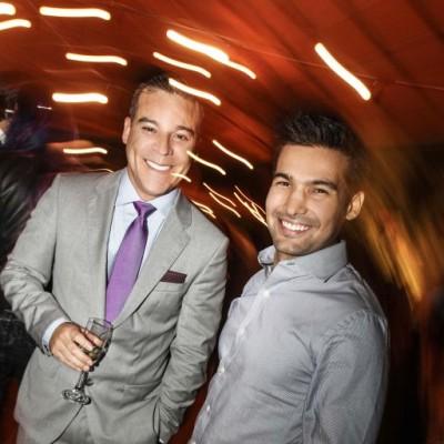 Adolfo Aguilar y Ezio Oliva en fiesta Tommy Hilfigher, Club El Polo.