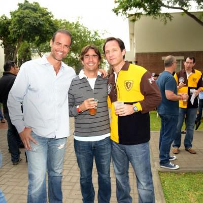 Alberto Florez, Claudio Querol y Joaquín Larrea