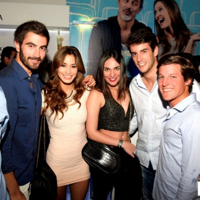 Alfonso Luna, Fiorella Chirichigno, Alexia Graña, Pablo Castel y Pete Conrado
