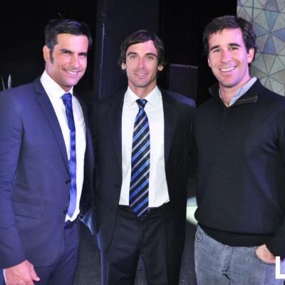 Andrew Gibbon, Mariano Brescia y  Luciano Levaggi