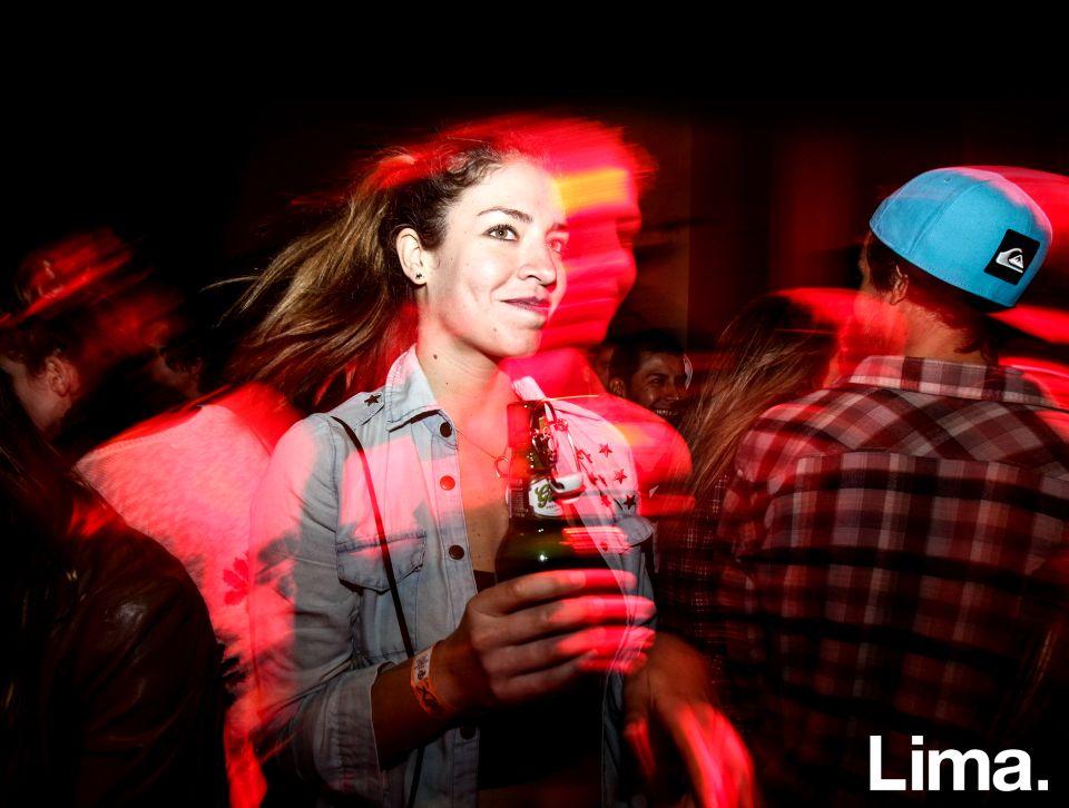 Carolina Coello en fiesta Hoodz, El Callao.