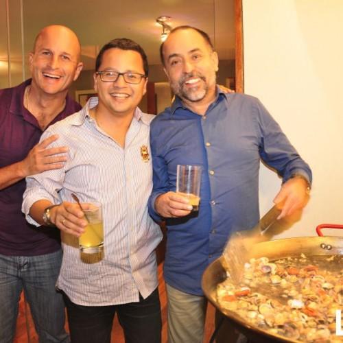 Celso García, Carlos Escudero II y Alberto Negrón