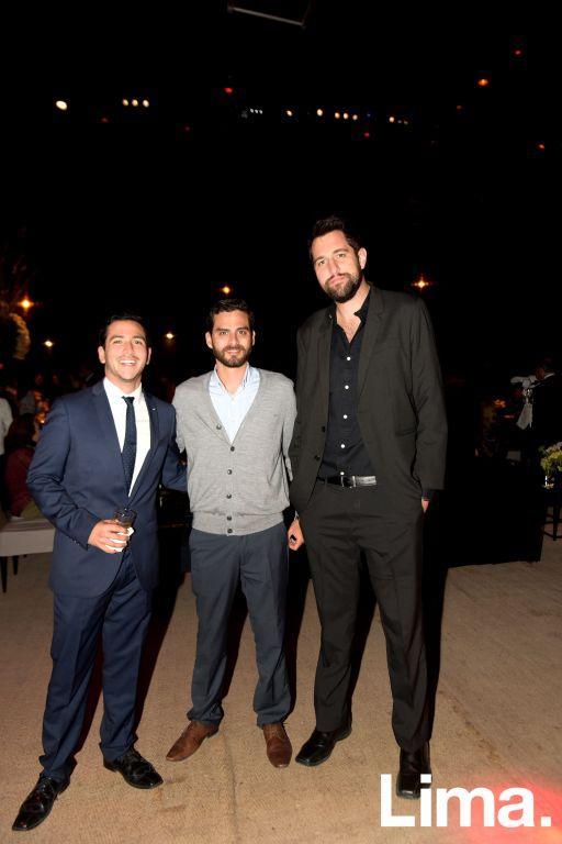 Christian Braun, Alejandro Guerra y Augusto Rachitoff