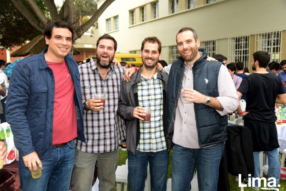 Diego Salazar, Juan Diego Marsano, Guillermo del Solar y Gonzalo Soldi