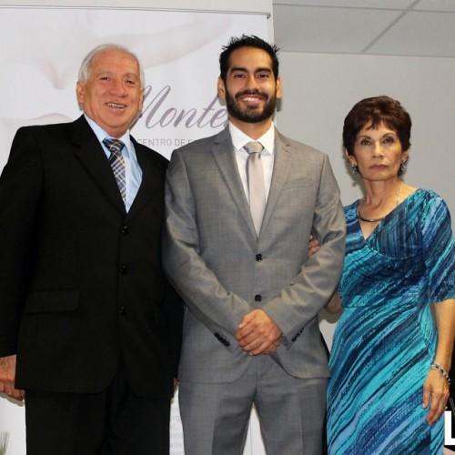 Dr. Luis Montero, Dr. Alberto Montero y Sra. Mirtha Pérez de Montero