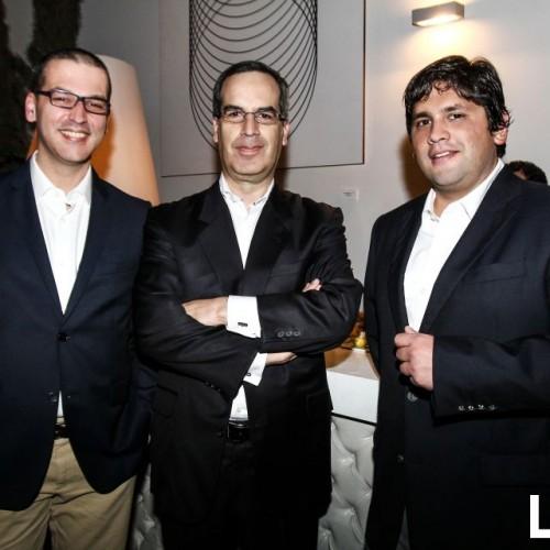 Eduardo Ricketts,  Enrique Angulo y Carlos Campbell