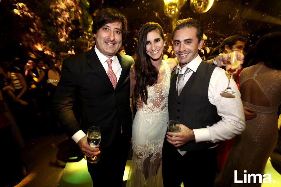 Jose Miguel Plaza, Inés Diez Canseco y Diego León de Peralta