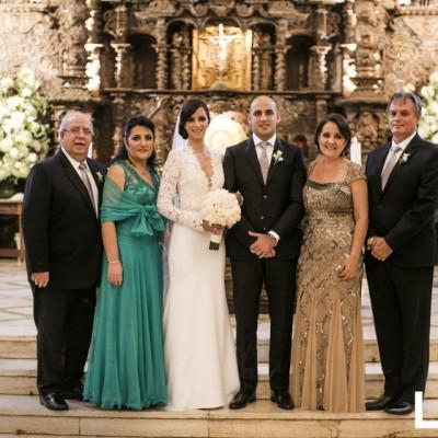 Khader Odeh, Patricia Saba, Nicole Bazo, David Odeh, Andrea Cannock y Jorge Bazo