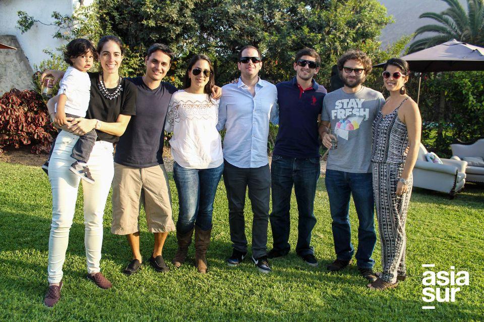 Lucca Bisso , Zohar Amar, Antonio Bisso, Damaris amar, Franco Ghibellini, Rafael Aspíllaga, Christian Buckley y Carolina Aspíllaga.