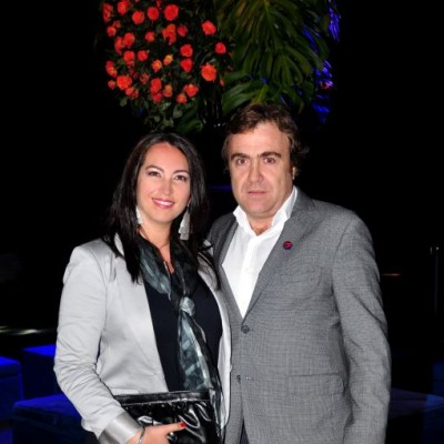 Macarena Rolando y Santiago Mesa (Gerente General de Tecno Fast)