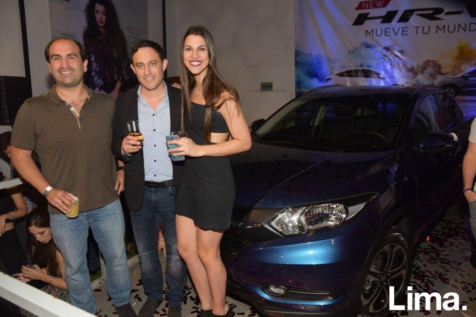 Mario Aguila, Jorge Ruiz y Nicole Barham