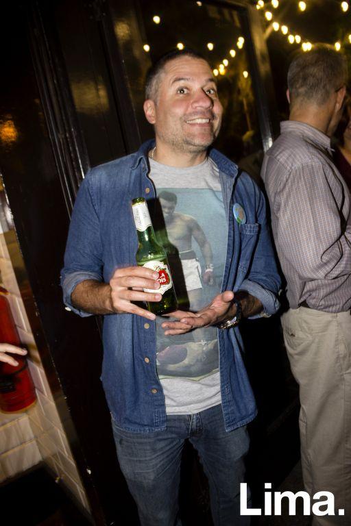 Mathias Brivio en aniversario de La 73, Barranco.