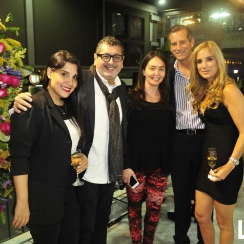 Ricky Tosso, Rodrigo Arosemena y Gabriela Lizier.