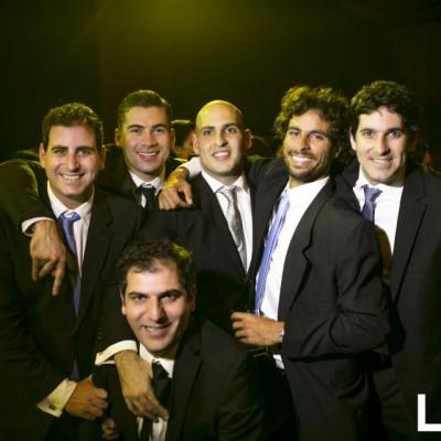 Riad Mattar, Alonso Martínez, David Odeh, Vito Von Der Heyde y Antonio Abusada y Jabra Mitri,