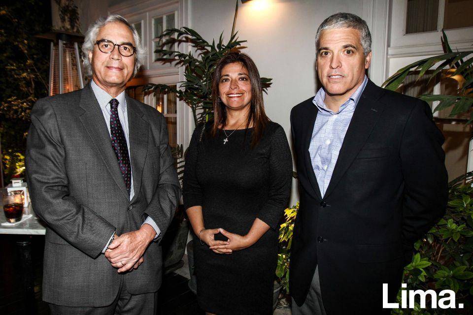 Richard Forsyth , Sandra Ganoza y Guillermo Velaochaga