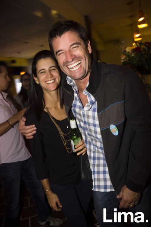 Sandra Cáceres y Mario de Las Casas en aniversario de La 73, Barranco.