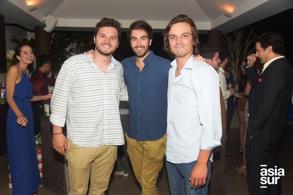 Borja Sánchez, Juan Sánchez y Alfonso Luna.