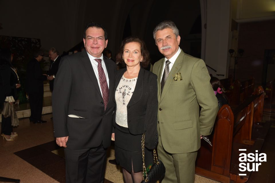 Naguib Ciurliza, Lucy Perea y Willy Angulo