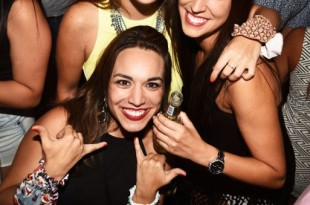 Andrea Velarde, Ariana µlvvarez-Calder¢n y Natalia Mu§oz