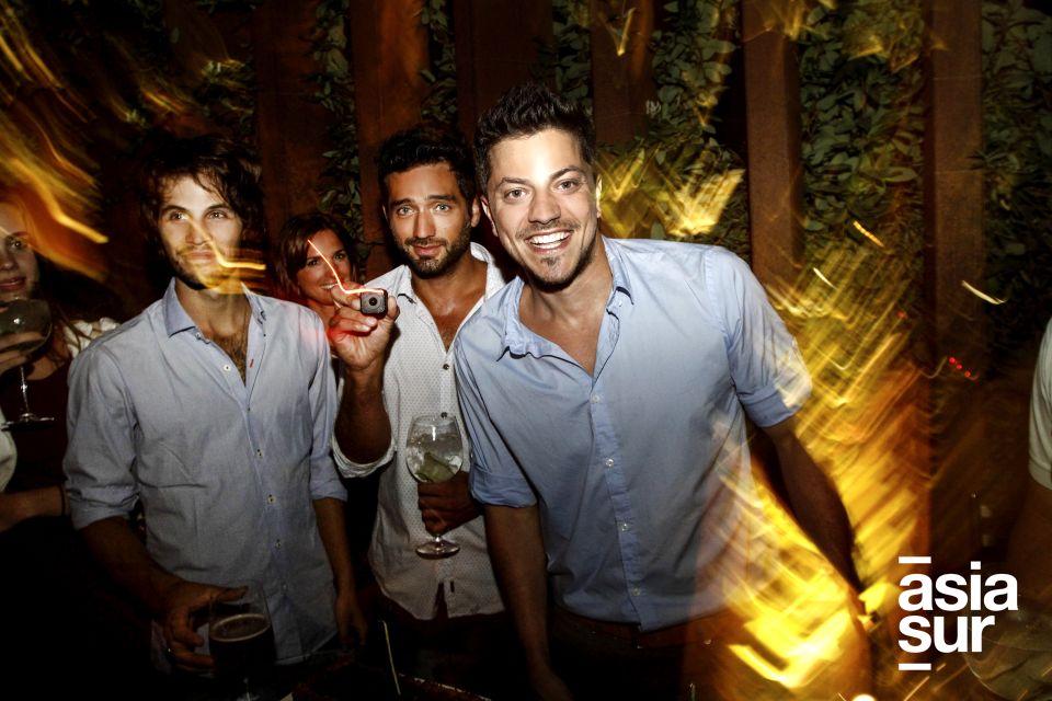 Pable Heredia y Francisco Bass en Cumpleaños de Francisco, Restaurante NOS, Miraflores.