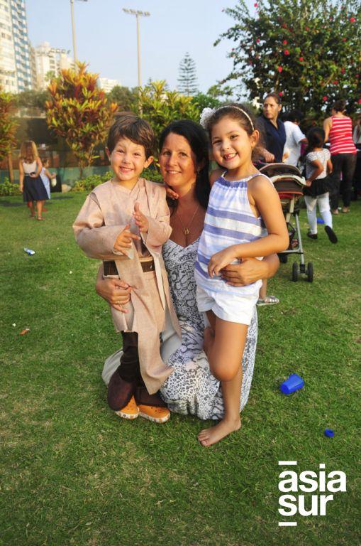 Matias Dasso, Sandra de Dasso y Rafella Dasso.