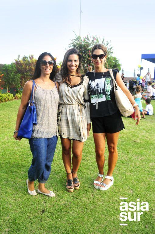 Nicole Dibós, Melissa del Solar y Penélope Alzamora.