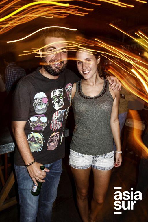 Sebastián Sánchez y Claudia Campodónico.