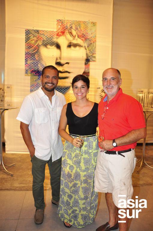 Antonio Zegarra, Adriana Pestana e Ivan Pestana.