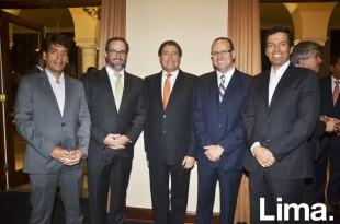 CÇsar Madrid, Andres Zubiate, Rodolfo Bragagnini, Alfonso Caillaux y CÇsar Pareja