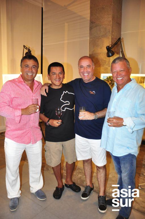 Directiva de Costa del Sol: Santiago Reina, Kike Pajuelo, Jimmy Abad y Carlos Salazar.