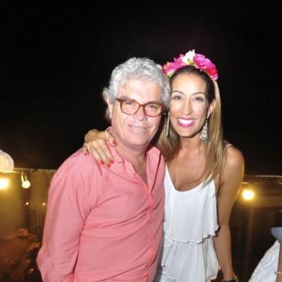 Fernando y Sandra Delgado en cumpleaños de Sandra, Miraflores.