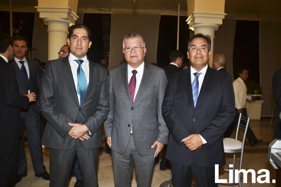 David Vargas, Ronald Herrera y Carlos Armas.