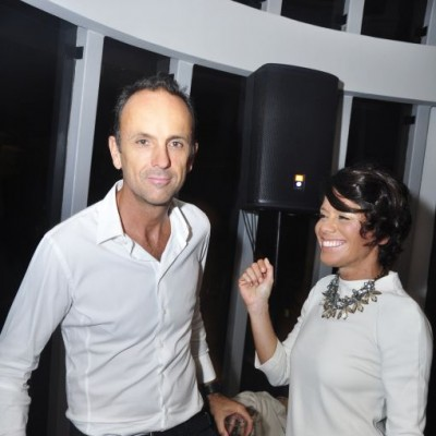 Gilles y Karina Pons de Vier  en cumpleaños de Sandra Delgado, Miraflores.